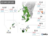 実況天気(2019年12月10日)