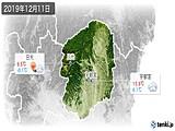 2019年12月11日の栃木県の実況天気