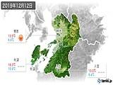 2019年12月12日の熊本県の実況天気