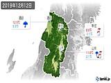 2019年12月12日の山形県の実況天気