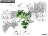 2019年12月13日の近畿地方の実況天気