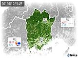 2019年12月14日の岡山県の実況天気