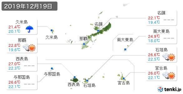 過去の天気(実況天気・2019年12月19日) - 日本気象協会 tenki.jp