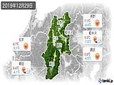 2019年12月29日の長野県の実況天気
