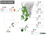 2019年12月29日の鹿児島県の実況天気