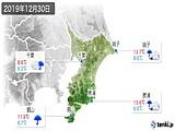 2019年12月30日の千葉県の実況天気
