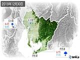 2019年12月30日の愛知県の実況天気