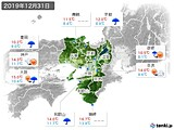 2019年12月31日の近畿地方の実況天気