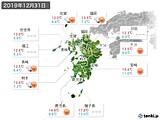 2019年12月31日の九州地方の実況天気