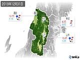 2019年12月31日の山形県の実況天気
