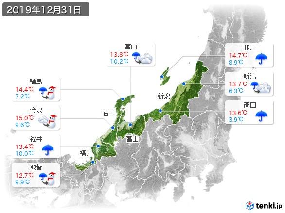 2019 年 12 月 31 日 天気 気象庁|過去の気象データ検索 - data.jma.go.jp