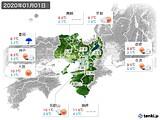 2020年01月01日の近畿地方の実況天気