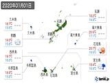 2020年01月01日の沖縄県の実況天気