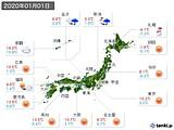 2020年01月01日の実況天気