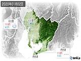 2020年01月02日の愛知県の実況天気