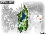 2020年01月02日の滋賀県の実況天気
