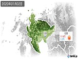 2020年01月02日の佐賀県の実況天気
