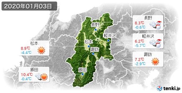 長野県(2020年01月03日の天気