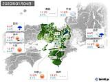 2020年01月04日の近畿地方の実況天気