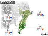 2020年01月04日の千葉県の実況天気