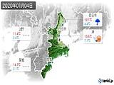 2020年01月04日の三重県の実況天気