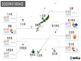 2020年01月04日の沖縄県の実況天気