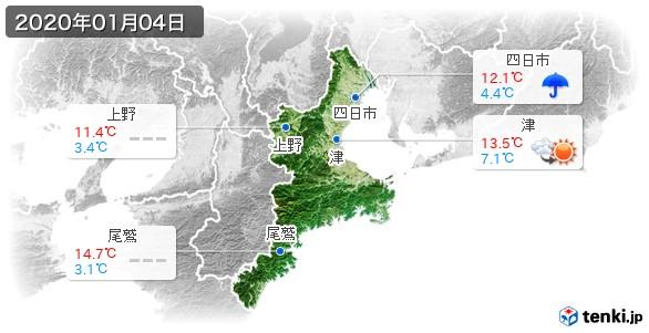 三重県(2020年01月04日の天気