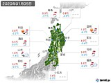 2020年01月05日の東北地方の実況天気