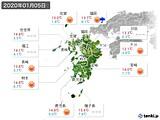 2020年01月05日の九州地方の実況天気