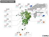 2020年01月06日の九州地方の実況天気