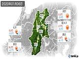2020年01月06日の長野県の実況天気