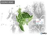 2020年01月06日の佐賀県の実況天気