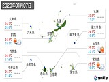 2020年01月07日の沖縄県の実況天気