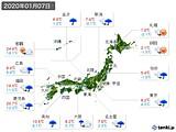 実況天気(2020年01月07日)