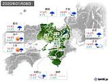2020年01月08日の近畿地方の実況天気