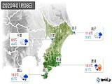 2020年01月08日の千葉県の実況天気