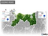 2020年01月09日の鳥取県の実況天気