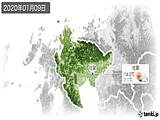 2020年01月09日の佐賀県の実況天気
