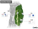 2020年01月09日の岩手県の実況天気