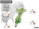 2020年01月10日の千葉県の実況天気