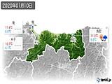 2020年01月10日の鳥取県の実況天気