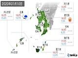 2020年01月10日の鹿児島県の実況天気