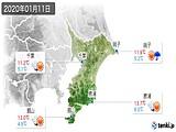 2020年01月11日の千葉県の実況天気