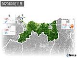 2020年01月11日の鳥取県の実況天気