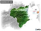 2020年01月11日の徳島県の実況天気