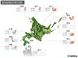 2020年01月12日の北海道地方の実況天気