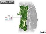 2020年01月12日の秋田県の実況天気