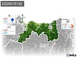 2020年01月13日の鳥取県の実況天気