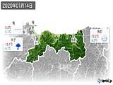 2020年01月14日の鳥取県の実況天気