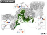 2020年01月15日の東海地方の実況天気
